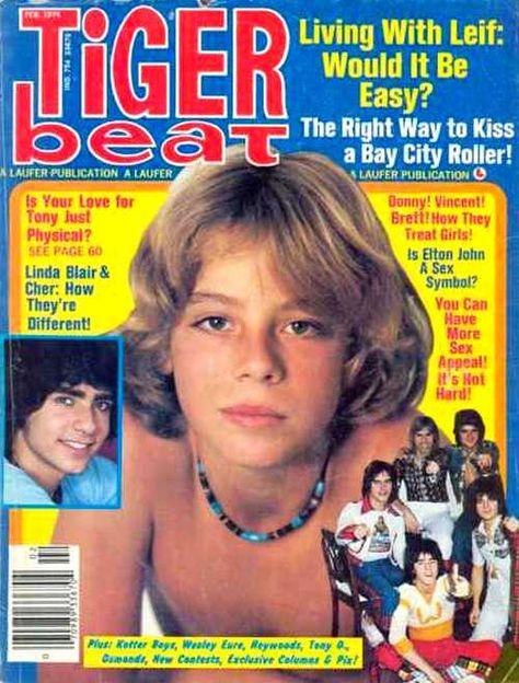 Tiger Beat - I think I had this issue, I had a crush on Leif Garrett