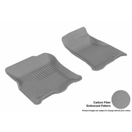 Kagu Rubber Black 3D MAXpider Complete Set Custom Fit All-Weather Floor Mat for Select Volkswagen Touareg Models