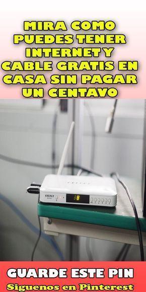 Mira Como Puedes Tener Internet Y Cable Gratis En Casa Sin Pagar Un Centavo Internet Gratis Pagar F Como Tener Internet Trucos Para Whatsapp Antenas Para Tv