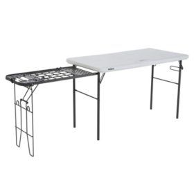 Buy Lifetime 4 Foot Tailgate Table With Wire Pull Out Folding Tables At Samsclub Com Metal Grill Tailgate Table Camping Table