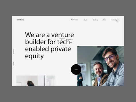 Venture Builder Website Animation / Interaction