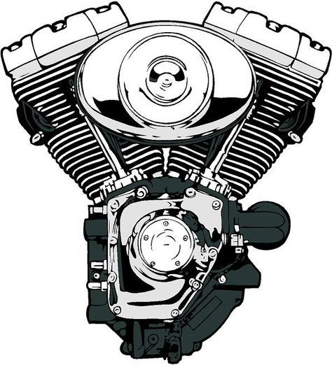 Harley Motor Vector Pictures Engine Tattoo Harley Tattoos Harley Davidson Engines
