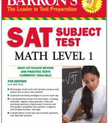 Barron S Sat Subject Test Math Level 1 4th Edition Pdf Math