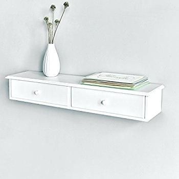 Floating Wall Shelf With Drawers Amazon Com Wall Mounted Floating Storage Shelf With Drawer Attr Floating Storage Shelves Wall Shelf With Drawer Drawer Shelves