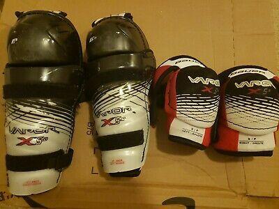 Bauer Vapor Knee Shin Guards And Elbow Pads Set In 2020 Elbow Pads Shin Guards Hockey Gloves