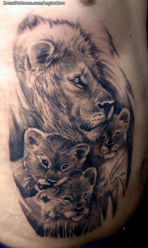 Tatuaje De Leones Animales Tatuajes De Animales Tatuajes De