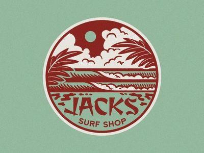 Jacks Psychedelic Waves Seal Surf Logo Surf Shop Logos Jack Surf Shop