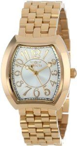 Invicta Women's 15039 Angel Silver Dial Gold Ion-Plated Stainless Steel Watch -- Check out the watch by visiting the link.