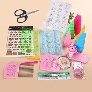 YURROAD 3 in 1 Paper Quilling Template Board Quilling DIY Tool