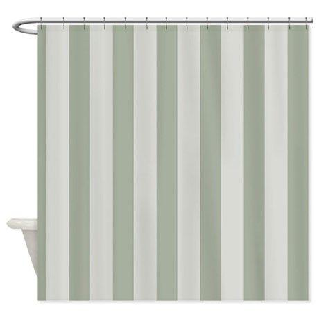 Sage Green Stripes Shower Curtain By Homewiseshopper Striped