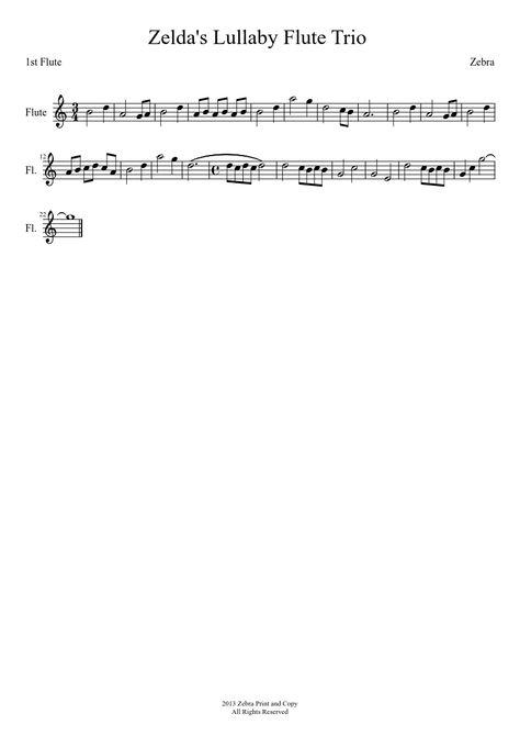 Comptine D Un Autre été Guitar Chords Zelda S Lullaby Flute Trio Part 1 Flute Music Lullabies Flute