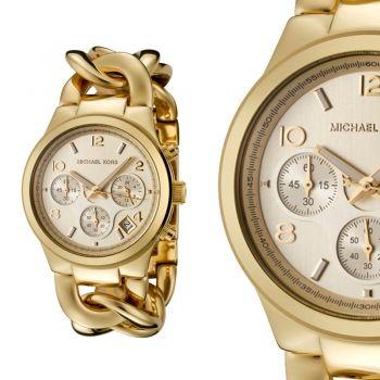 Michael Kors MK3131 Damenuhr mit Chronograph Gold Armband NEU & OVP