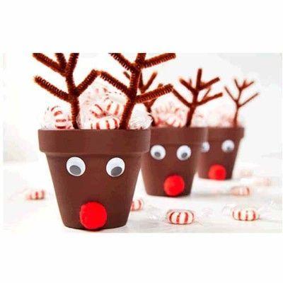Image Result For Reindeer Flower Pot Craft Christmas Clay Reindeer Craft Christmas Crafts