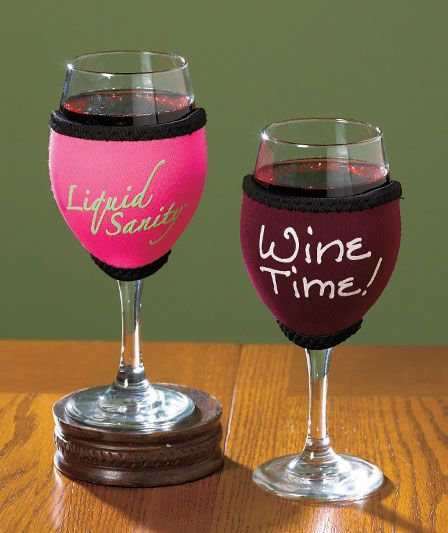 Sets of 2 W.I.N.O.S.™ Glovie™  Slips over your wine glass