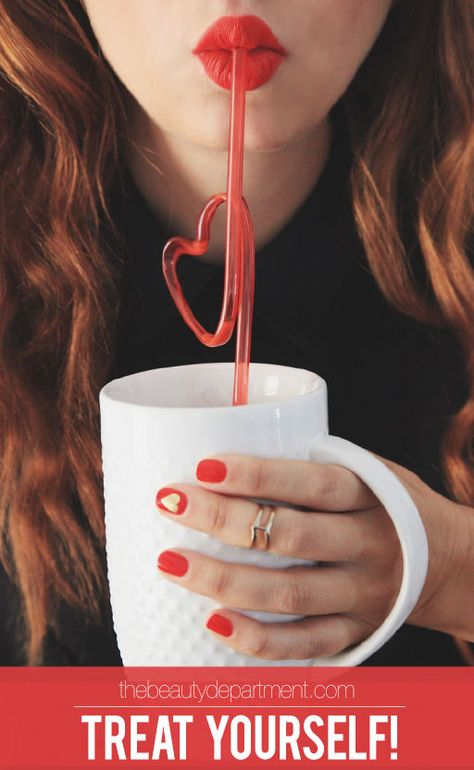 For Valentine's Day, we're pairing gold leaf hearts with the best red polish color we've ever seen! Follow the link to see the tutorial! xo