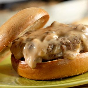 Burgers are an all-time favorite and they rise to new heights with the creamy flavors of traditional stroganoff.