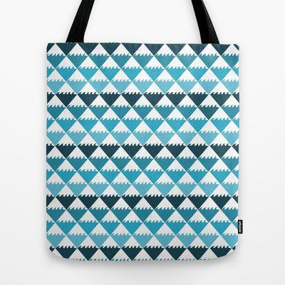 Hawaiian Waters Pattern Tote Bag #hawaiian #hawaii #ocean #blue #pattern