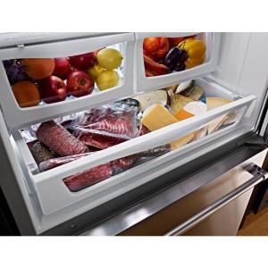 Kitchenaid 18 7 Cu Ft Bottom Freezer Refrigerator In