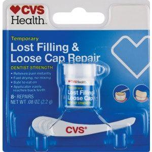 Cvs Health Temporary Tooth Filling Repair Kit Cvs Com Broken