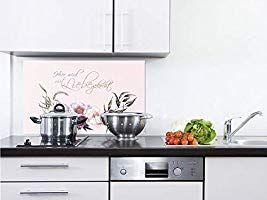 Grazdesign Glas Kuchenruckwand Spritzschutz Kuche Hier Wird Mit Liebe Gekocht Nischenruckwand Herd Wand Ruckwand Aus E Spritzschutz Kuchenruckwand Esg Glas