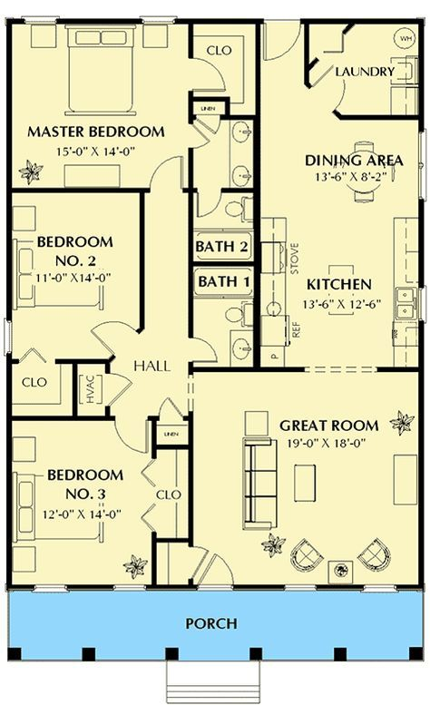 Plan 2552dh Cute Southern Cottage Southern Cottage Southern House Plans House Plans