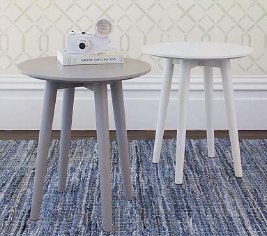 Modern Spindle Side Table, Blush