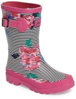 Joules Welly Printed Waterproof Rain Boot Toddler Little Kid Big Kid Rain Boots Boots Girls Shoes