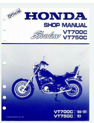 Honda Shadow Spirit Factory Service Manual Vt700c Vt750c 1983 1984 1985 In 2020 Repair Manuals Honda Shadow Honda