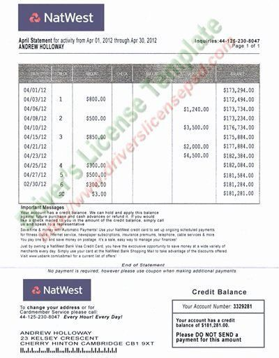 Fake Credit Card Template In 2021 Bank Statement Statement Template Card Template