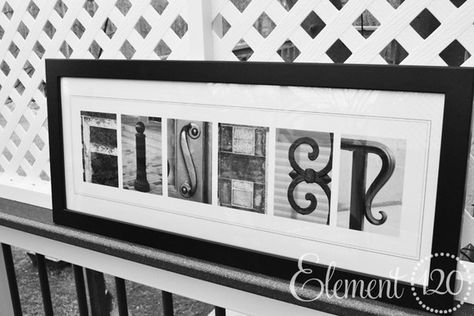 Letter Alphabet Photography Last Name Modern 10x26 Frame Personalized Letter Photo Art Ideas For Kristen Alphabet Photography Name Pictures Photography Names