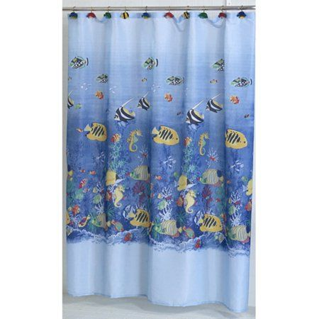 Inchtropical Seainch Fabric Shower Curtain Size 72 Inch Large X 70 Inch W Blue Fabric Shower Curtains Shower Curtain Sizes Shower Curtains Walmart