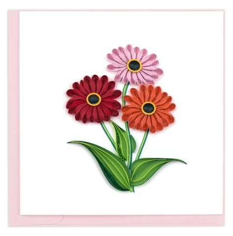 Bl1018 Gerbera Daisies Paper Quilling Flowers Quilling Cards Paper Quilling Designs