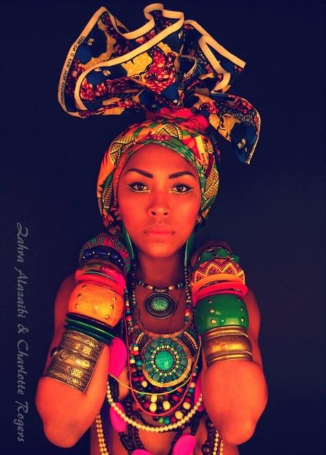 From the bangles to the headwrap,just a great picture.