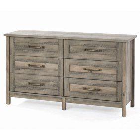 Better Homes Gardens Crossmill Dresser Weathered Finish Walmart Com Better Homes 6 Drawer Dresser Home Decor Bedroom