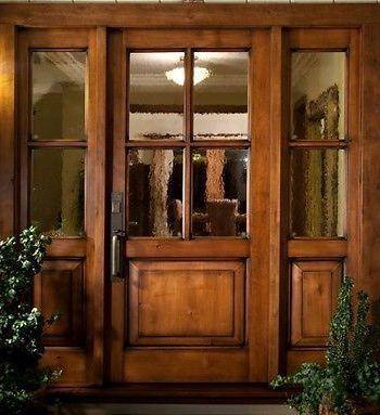 1 36 X 80 Shaker Entry Door With Matching 1 Lite Sidelites 1 36 X80 3 Lite Door With 2 1 Craftsman Door Beautiful Front Doors Wood Doors Interior