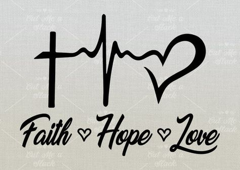 Faith, Hope and Love Svg, Religious Belief Svg, Christian Svg