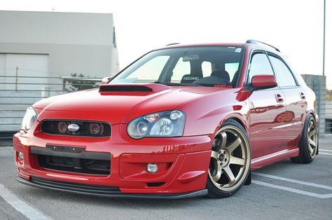 Subaru Impreza Wrx Red Rota Grid Gold Subaru Pinterest