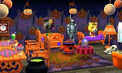 Tammyu0027s Halloween Party Theme House. Animal Crossing Happy Home Designer 2  | Achhd | Pinterest | Animal Crossing, Animal And Animal Crossing Qr