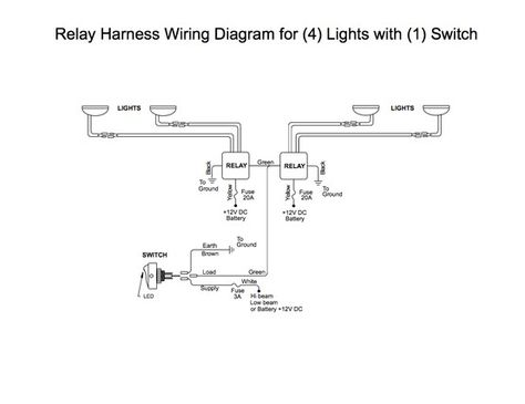 wiring 2 relay's to 1 switch
