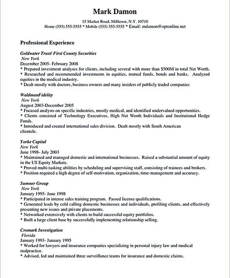 Salesperson Resume Sample The Salesperson Resume Can Be A Good