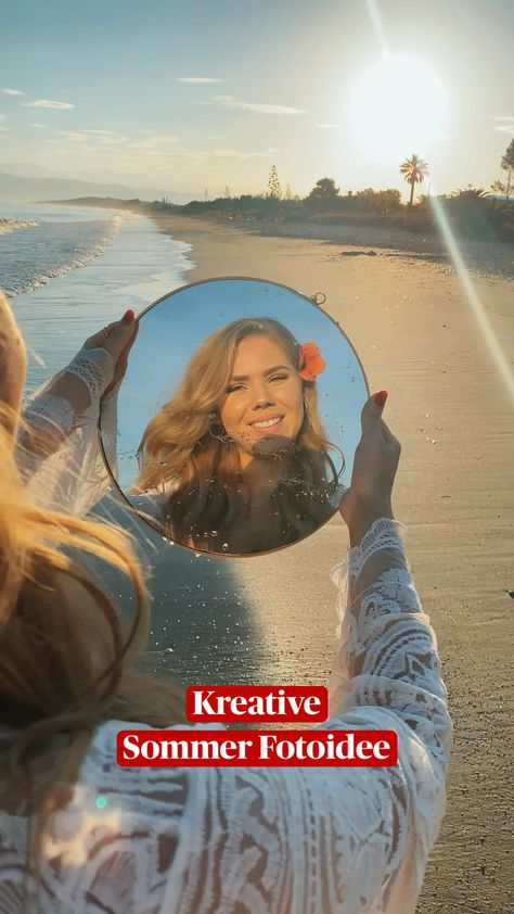 Kreative Sommer Fotoideen mit einem Spiegel