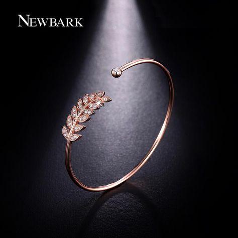 Find More Bangles Information about NEWBARK Leaf Cuff Bangles Women Bracelets…