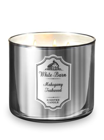 White Barn Mahogany Teakwood 3 Wick Candle Bath And Body