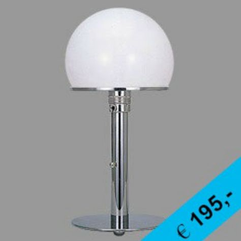 SONDERPREIS AUF 50 STÜCK LIMITIERT  BAUHAUS LAMPE in CHROM  JETZT NUR € 195,-  http://www.dimensione-bauhaus.com/de/bauhaus/produkt/110-tischleuchte/