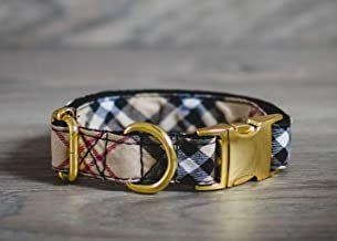 Burberry dupe Designer Dog Collar, Adjustable with Gold Hardware, 1 Inch Wide - Luxury Fashion Dog Collars for Mini, XSmall, Medium Breeds  #founditonamazon #amazon #amazonprime #amazongift #amazonstyle #pet #poodle #puppy #dog #dogmom #dogdad #gucci #louisvuitton #burberry #designer #dupe #designerdupe