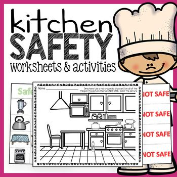 Kitchen Safety Worksheets And Activities Pack With Images