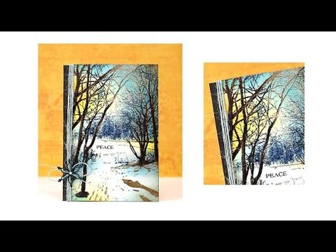 Create a Winter Scene with Penny Black Stamps and MISTI - YouTube
