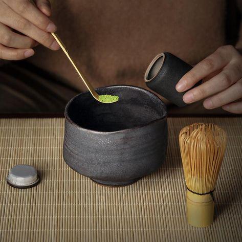 Matcha Bowl Matcha Set 4pc Matcha Tea Set Matcha Whisk Set Matcha Tea Set Ceramic Matcha Bowl and Whisk Japanese Tea Set Gift Set