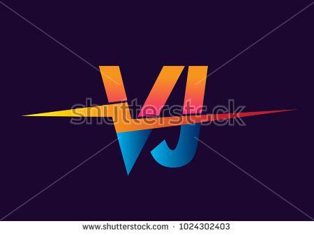 Letter Vj Logo With Lightning Icon Letter Combination Power Energy Logo Design For Creative Power Ideas Web Busines Energy Logo Design Lettering Energy Logo