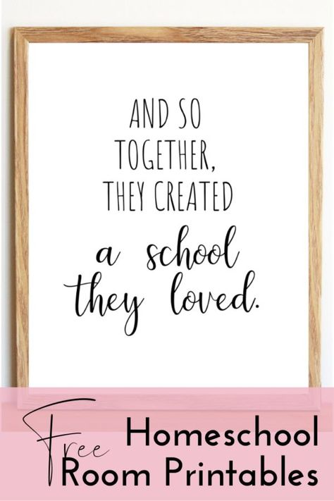 Free Homeschool Room Printables - This Love Filled Life. - Homeschooling, Ideas, Educational Activities, Tips & Life Skills - Boss Club Illinois, Homeschool Curriculum, Online Homeschooling, Curriculum Planning, Montessori Education, Home Learning, Learning Spaces, Toddler Learning, Early Learning